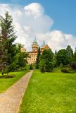 Road to Bojnice castle Stock Photography