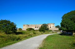 Road to Borgholm castle, Sweden Royalty Free Stock Images