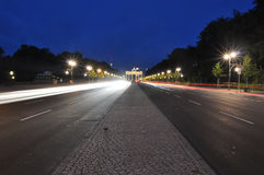 The road to the Brandenburg gate Royalty Free Stock Photography
