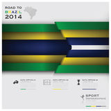 Road To Brazil 2014 Football Tournament Sport Infographic. Design Template Stock Photography