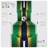 Road To Brazil 2014 Football Tournament Sport Infographic. Design Template Royalty Free Stock Photography