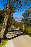 Road to Briksdal glacier - Norway. Nature and travel background stock image