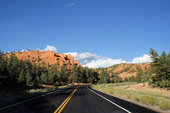 Road to Bryce Canyon. The scenic highway that leads to Bryce Canyon in Southern Utah stock photos