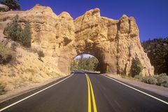 The road to Bryce Canyon National Park in Utah Royalty Free Stock Image