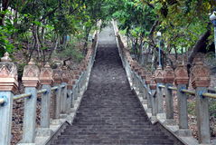 The road to Buddhist temple Stock Images