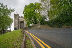 Road to the Bunratty castle in Ireland Stock Photo