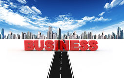 Road to business Stock Images