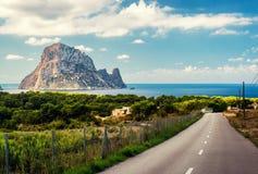 Road to the Cala d'Hort beach Stock Photos