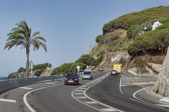 Road to Calella Stock Images