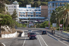 Road to Calella Royalty Free Stock Photo