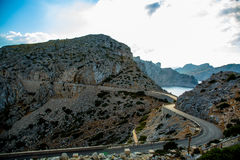 The road to Cap Formentor. Mallorca Royalty Free Stock Photography