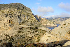 Road to Cape Formentor (Mallorca, Spain) Royalty Free Stock Photos