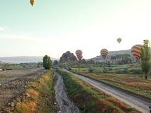 Road to cappadocia stock photos