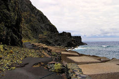 The road to Castillo Del Mar, La Gomera, Canary, Spain Royalty Free Stock Images