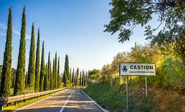 Road to Castion Veronese. In Italy Stock Photo
