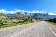 Road to Caucasus mountains Royalty Free Stock Photo
