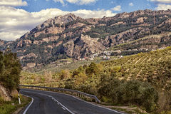 Road to Cazorla. Road and mountains near Cazorla. Andalusia Royalty Free Stock Images