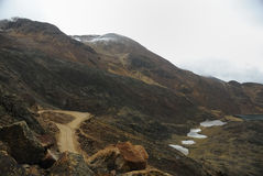 The road to Chacaltaya, La Paz, Bolivia Royalty Free Stock Photography