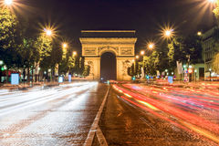 Road to the Champs Elysees at night Stock Image
