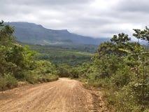 Road to the Chapada. Sandy road to the Chapada Park Stock Photography