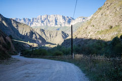 Road to the Chegem gorge. In Kabardino-Balkaria Royalty Free Stock Image