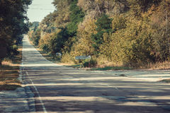 Road to Chernobyl zone. Royalty Free Stock Photo