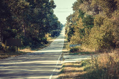 Road to Chernobyl zone. Royalty Free Stock Image