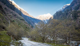 Road to Chopta Valley In Northern Sikkim, India Stock Photography