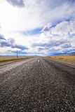 Road to the Chu steppe Royalty Free Stock Photography