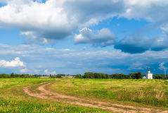 Road to Church of Intercession on Nerl River Royalty Free Stock Photo