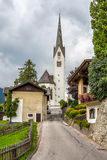 Road to church in Sillian Stock Photography