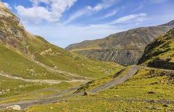 The Road to Circus of Troumouse - Pyrenees Mountains Royalty Free Stock Photos