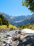 Road to Cirque de Gavarnie, Hautes-Pyrenees, France Stock Photography