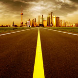 The road to the city royalty free stock images