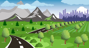 Road to a city Royalty Free Stock Image