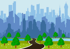 Road to a city Stock Photography