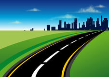 The road to the city Royalty Free Stock Photos