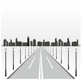 Road to city Stock Photography