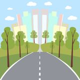 Road to the city vector background Stock Photos