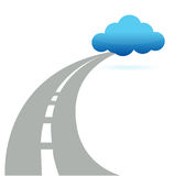 Road to cloud computing Royalty Free Stock Photo