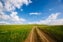 Road to the clouds. Royalty Free Stock Photos