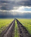 Road to cloudy horizon Stock Photo
