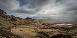Road to coastline, Quirang, Isle of Skye, Scotland Royalty Free Stock Image