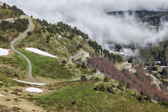 Road to Col de Pailheres Royalty Free Stock Images