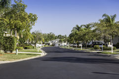 Traditional community road in Naples, Florida Royalty Free Stock Images