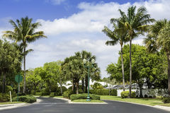 Traditional community road in Naples, Florida Stock Photography