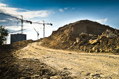 Cranes and construction site Royalty Free Stock Photography