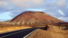Free Road To Corralejo Town Along Desert With Volcanic Landscape, Fuerteventura, Canary Islands, Spain Stock Image - 11832281