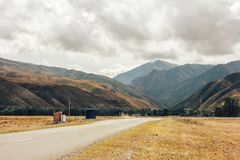 The road to a crevice in the mountains. High mountains, the way to mountains, crevice in mountains Royalty Free Stock Image
