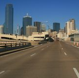 Road to Dallas. Road leading into downtown Dallas from the west Stock Photography